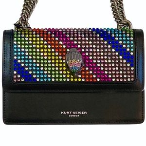 Kurt Geiger Rainbow Crystal Mini Shoreditch Bag